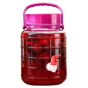 瓶瓶安安玻璃泡酒瓶帶龍頭葡萄酒藥酒壇子家用泡菜密封罐10斤20斤gogo購