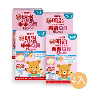 明治樂樂Q貝-成長方塊奶粉(1-3歲)【4盒購】