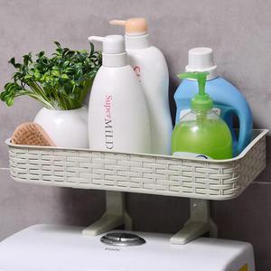 ✭慢思行✭【W60】多功能吸壁式置物架 馬桶蓋 衛浴 洗漱 懸掛 吸盤 無痕 雜物 分類 掛鉤