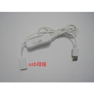 【世明國際】USB公轉USB母帶開關電源線 USB充電線 充電線帶開關 U公對U母