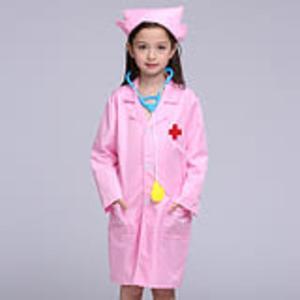 兒童小護士服醫生扮演職業體驗裝演出服幼兒園過家家白大褂表演服  沸點奇跡