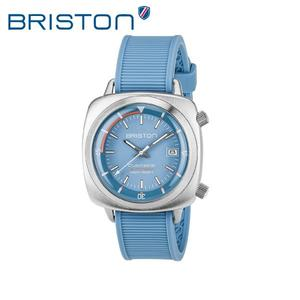 BRISTON 手錶 原廠總代理  17642-S-D-18-RLB  水藍色 時尚矽膠運動機械錶 男女 生日情人節禮物