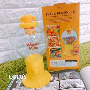 日本正版迪士尼 小熊維尼 維尼 維尼熊 扭蛋機造型糖果罐 糖果機 收納罐 擺飾 不含糖果 COCOS JP650