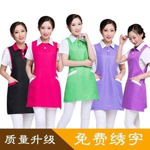 美容師工作服無袖圍裙韓版時尚美甲母嬰店服務員工裝女
