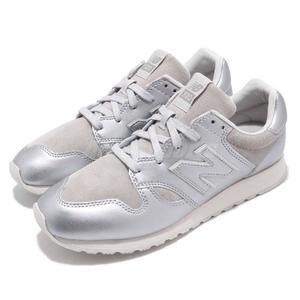 【六折特賣】New Balance 復古慢跑鞋 520 NB 銀 白 亮皮 麂皮設計 運動鞋 女鞋【PUMP306】 U520SUBD