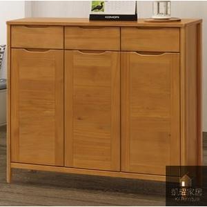 《凱耀家居》米堤柚木色4尺鞋櫃 103-708-3