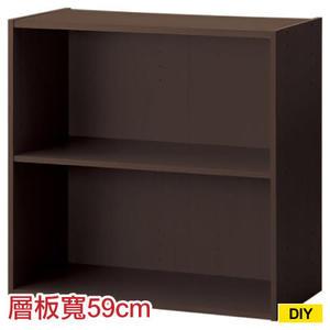 【DIY】61cm彩色櫃 COLOBO WIDE 雙層櫃 DBR NITORI宜得利家居