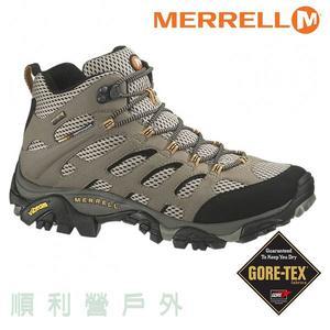 美國MERRELL MOAB 2 MID GORE-TEX 男款中筒防水健行鞋 87311 棕/黑  登山鞋 防水鞋 OUTDOOR NICE