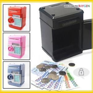 創意儲蓄自動捲錢迷你密碼保險櫃 ATM存錢筒