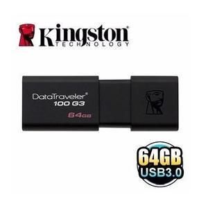 【超人生活百貨】KINGSTON DT100 G3 64G 隨身碟 黑色 USB3.0 DT100G3 5年保固