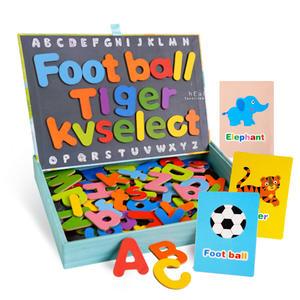 英文字母木製磁性拼拼樂 玩具 木製玩具 早教學習玩具