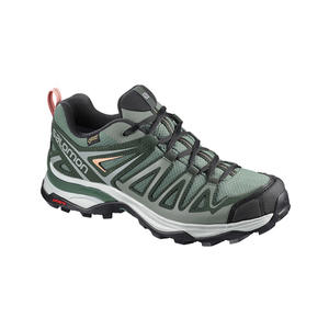 [Salomon] (女) X ULTRA 3 Prime GTX 低筒登山鞋 綠/珊瑚粉 (L40131600)