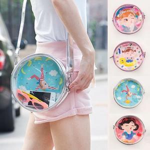 斜背包-棒棒女孩透明手機包/側背包/單肩包/小包-共4色-B290079-FuFu