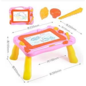 【二合一畫板桌-粉色】彩色磁性畫板幼兒童磁性小黑板1-2-3歲塗鴉板玩具