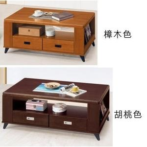 【新北大】 傑夫4尺大茶几(含椅x2)P675-5 樟木色.P678-4 胡桃色-2019購