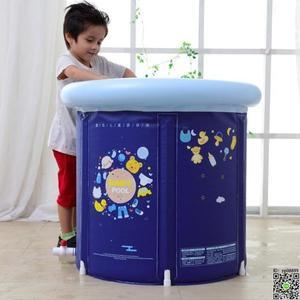泳池 嬰兒游泳池家用新生幼兒童支架水池大號寶寶保溫小孩游泳桶T