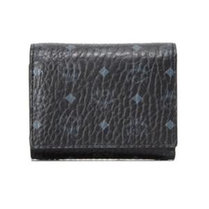 MCM VISETOS Small 三折短夾 皮夾 品牌經典圖騰皮革 黑色