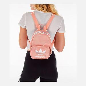 美國 【adidas 愛迪達】ORIGINALS 三葉草 粉色 帆布 經典LOGO 運動休閒雙肩 迷你後背包 $1680