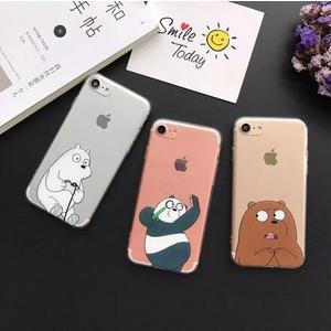 【SZ33】iPhone 7/8 plus手機殼 咱們裸熊搞怪卡通 6s手機殼 iPhone 7/8 手機殼 I6 plus手機殼