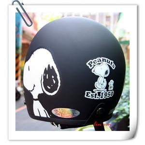 林森●史努比復古帽,3/4帽,半罩式,805,803,#3/消光黑