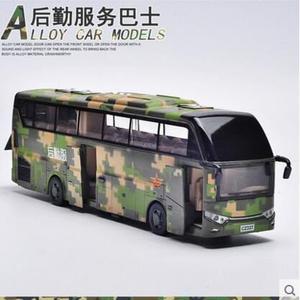 熊孩子❤後勤服務巴士合金車模 聲光迴力兒童玩具(主圖款 禮盒裝 )