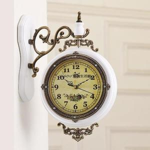 歐式復古掛鐘雙面鐘客廳鐘表YG-90235