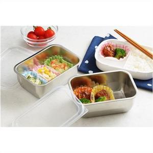 日本製不鏽鋼保鮮盒野餐盒泡菜盒小菜盒多用途923446通販屋