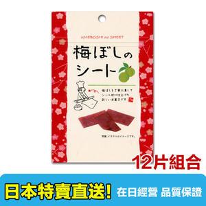 【海洋傳奇】【日本出貨】日本 i factory 梅子片 14gx12包組合 梅乾 梅干片