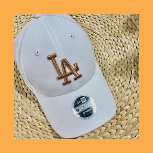 【蟹老闆】New Era 道奇老帽 LA 玫瑰金LOHO 白色 網紅必備