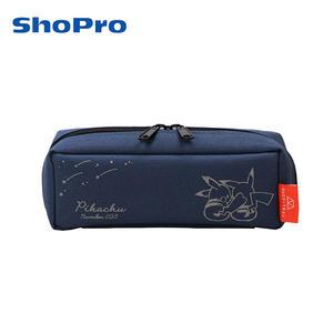 深藍款【日本正版】皮卡丘 三層 可展開式 鉛筆盒 筆袋 神奇寶貝 寶可夢 - 068229