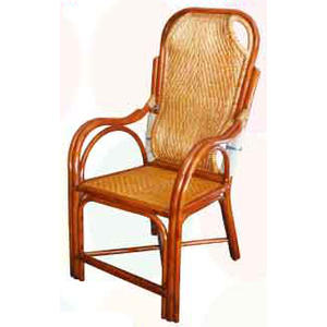 【南洋風休閒傢俱】藤椅系列 – 護腰枕頭老人椅 編藤椅 乘涼椅 休閒椅 守衛椅 保全椅(761-18)