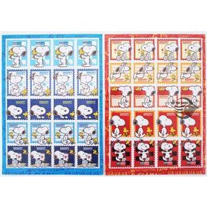 史努比 Snoopy郵票貼紙 【金玉堂文具】