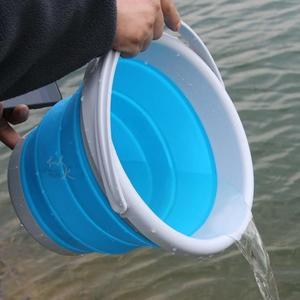 摺疊 水桶 戶外釣魚摺疊桶 打水桶 便攜活魚桶餌料盆戶外洗車 智聯ATF
