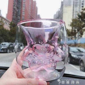 貓爪杯貓爪杯  雙層櫻花杯 貓爪 杯日本抖音ins款 薔薇時尚