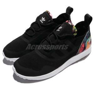 adidas 休閒慢跑鞋 ZX Flux ADV Virtue W 黑 白 後跟圖騰設計 女鞋 運動鞋【PUMP306】 CG4094