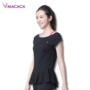 【MACACA】連身斜裙愛T- BZT2141(黑色) (瑜伽/韻律/休閒)