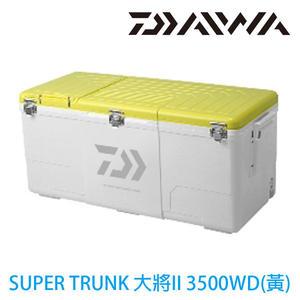 漁拓釣具 DAIWA NS SUPER TRUNK大將Ⅱ 3500WD 黃 (硬式冰箱)