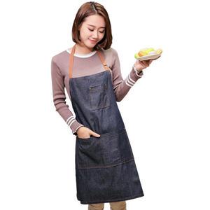 家居牛仔圍裙 訂製LOGO店名 廣告圍裙大量購 禮品圍裙【館長推薦】