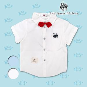 兒童白襯衫 附紅色領結素色襯衫 幼兒園畢業穿搭必備  *2色 RQ POLO 小童春夏童裝[91058]