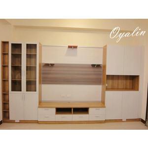 【歐雅 系統家具 】懸掛電視櫃+窗邊櫃+壁飾板