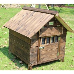 室外碳化防腐防雨實木狗屋帶門窗
