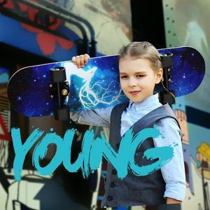 滑板四輪兒童青少年初學者刷街專業成人男孩女生雙翹公路車【元氣少女】