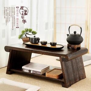 和室桌 炕桌小茶幾陽台飄窗桌實木榻榻米小茶桌簡約臥室迷你折疊和室矮桌JD 智慧e家