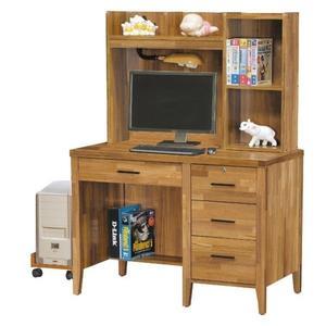 【新北大】✪ L7235-7 詩肯集層柚木色3.5尺書桌(上+下)(含主機架)-18購