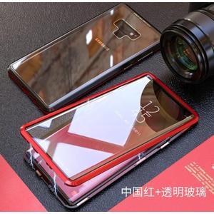 三星 雙面萬磁王手機殼 Note10 Plus 金屬邊框保護套 SamSung Note10 個性時尚全包玻璃殼手機套