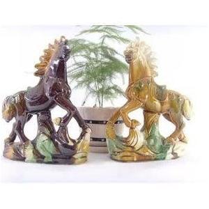 唐三彩馬陶瓷馬擺件 工藝品