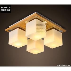 INPHIC- 日式榻榻米和室吸頂燈新中式臥室木藝燈韓式原木色餐廳客廳吸頂燈_S197C