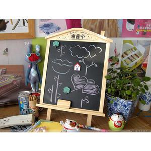 創意留言板 可愛小屋造型小黑板 可掛可平放小留言版 【花赤Run】