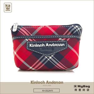 Kinloch Anderson 金安德森 皮夾 英式學院  紅/藍  經典格紋女夾 零錢包  KA151210  MyBag得意時袋
