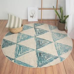 圓形地毯 圓形電腦椅地毯/北歐ins裝飾風格幾何圖案/客廳書房吊椅臥室地墊【年中慶降價】